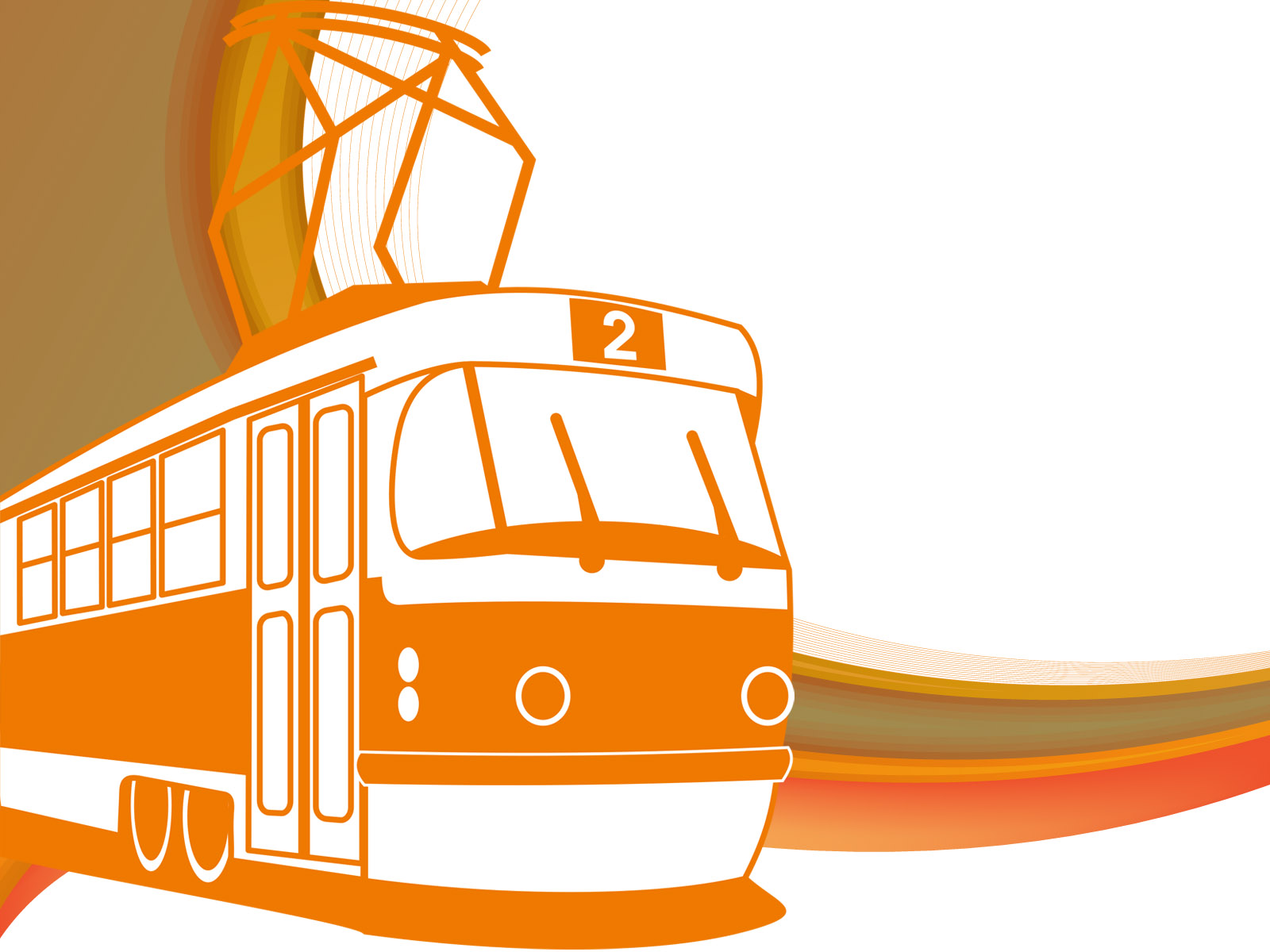 Tramway Transportation PPT Backgrounds