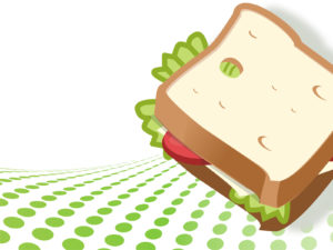 Vegetarian Sandwich PPT Backgrounds