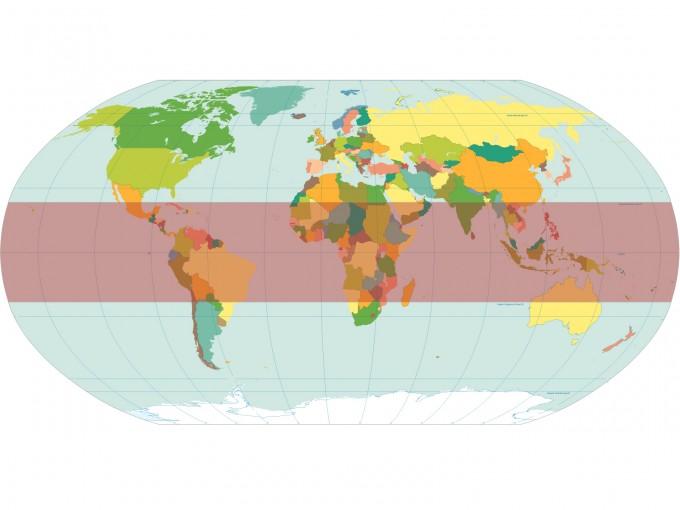 World Map Torrid PPT Backgrounds