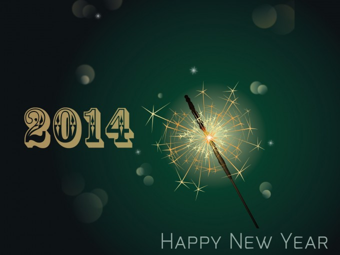 2014 Happy New Year PPT Backgrounds