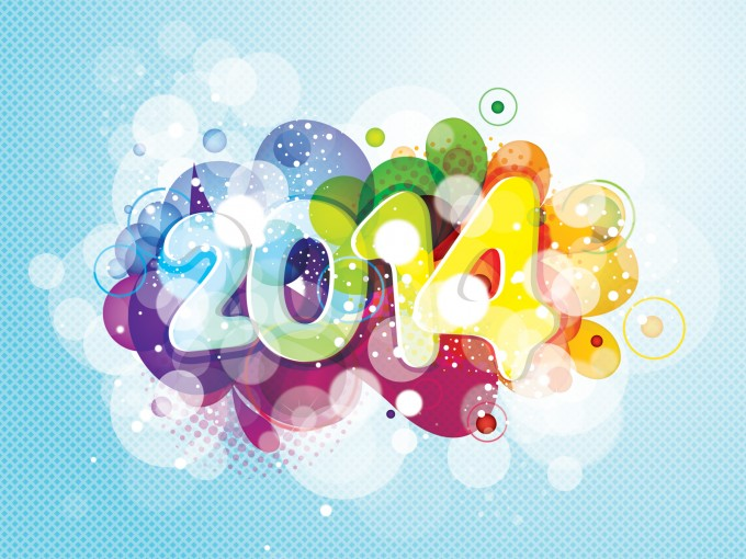 2014 New Year Design PPT Backgrounds