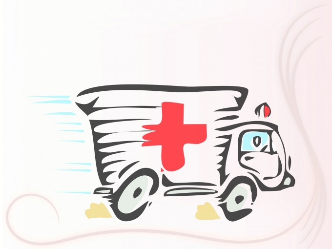 Ambulance Car Powerpoint PPT Backgrounds