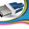 Blue USB Device Connector Backgrounds