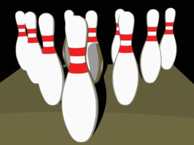 Bowling Ten Pins PPT Backgrounds