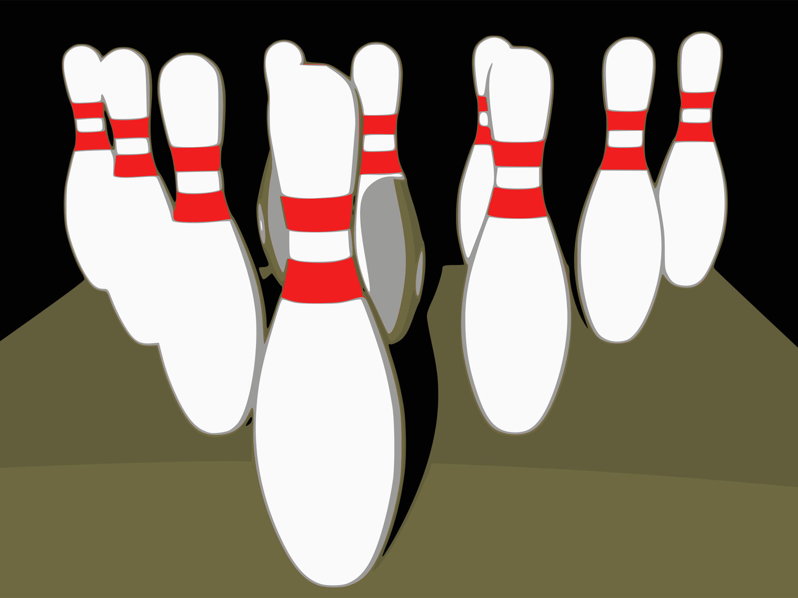 Bowling Ten Pins PPT Backgrounds