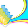 Colorful business 3d Graph Backgrounds