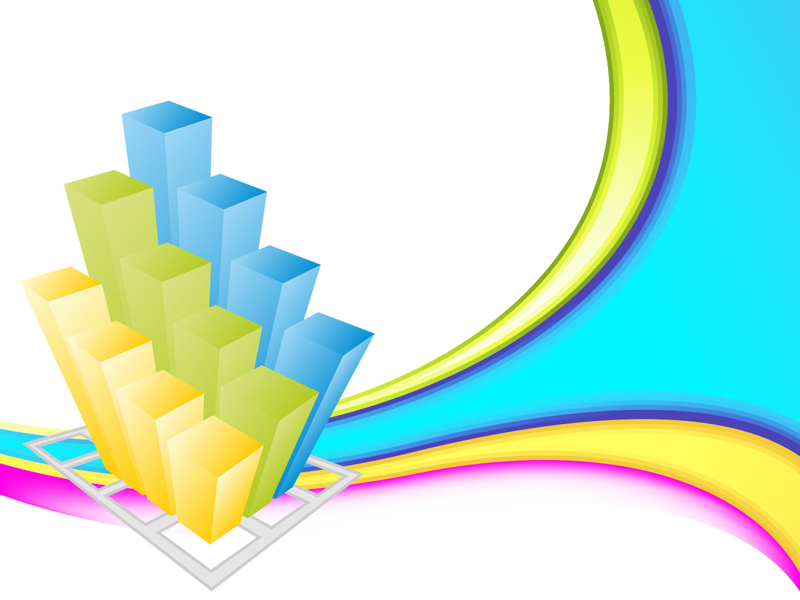 Colorful Business 3d Graph Ppt Backgrounds 3d Business