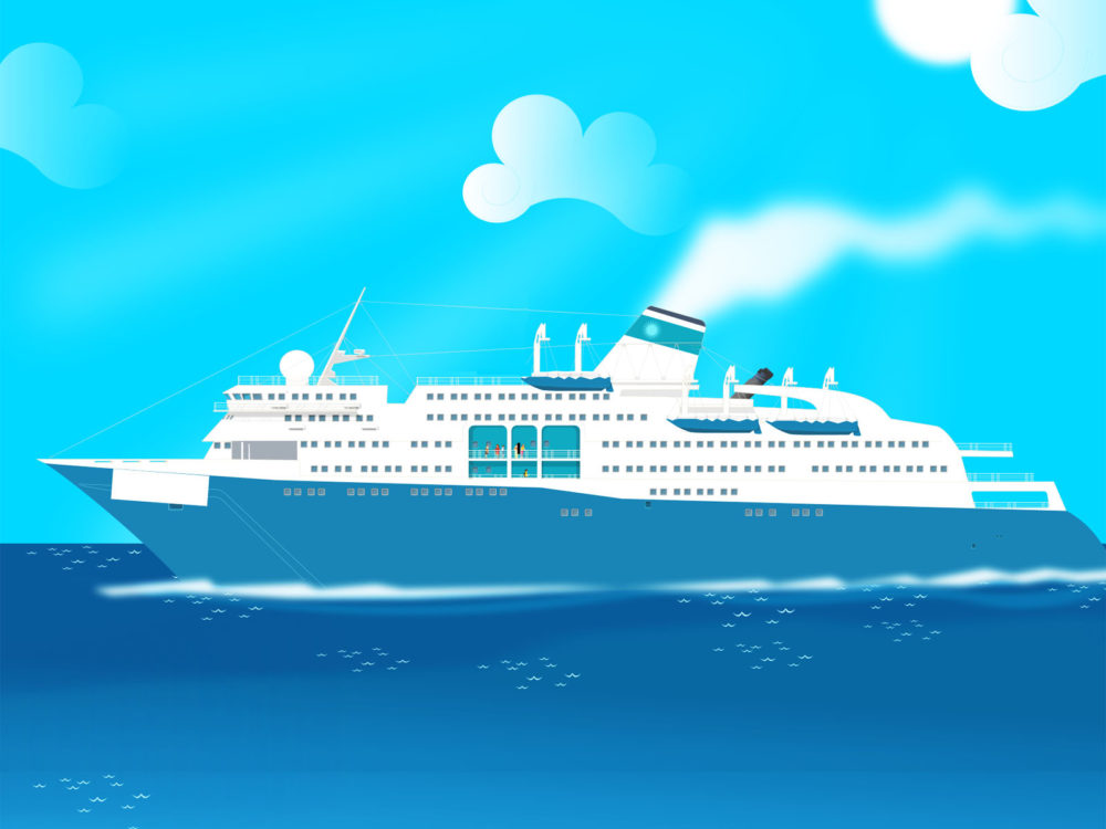 Cruse boat powerpoint design ppt backgrounds transportation normal resolution toneelgroepblik Image collections