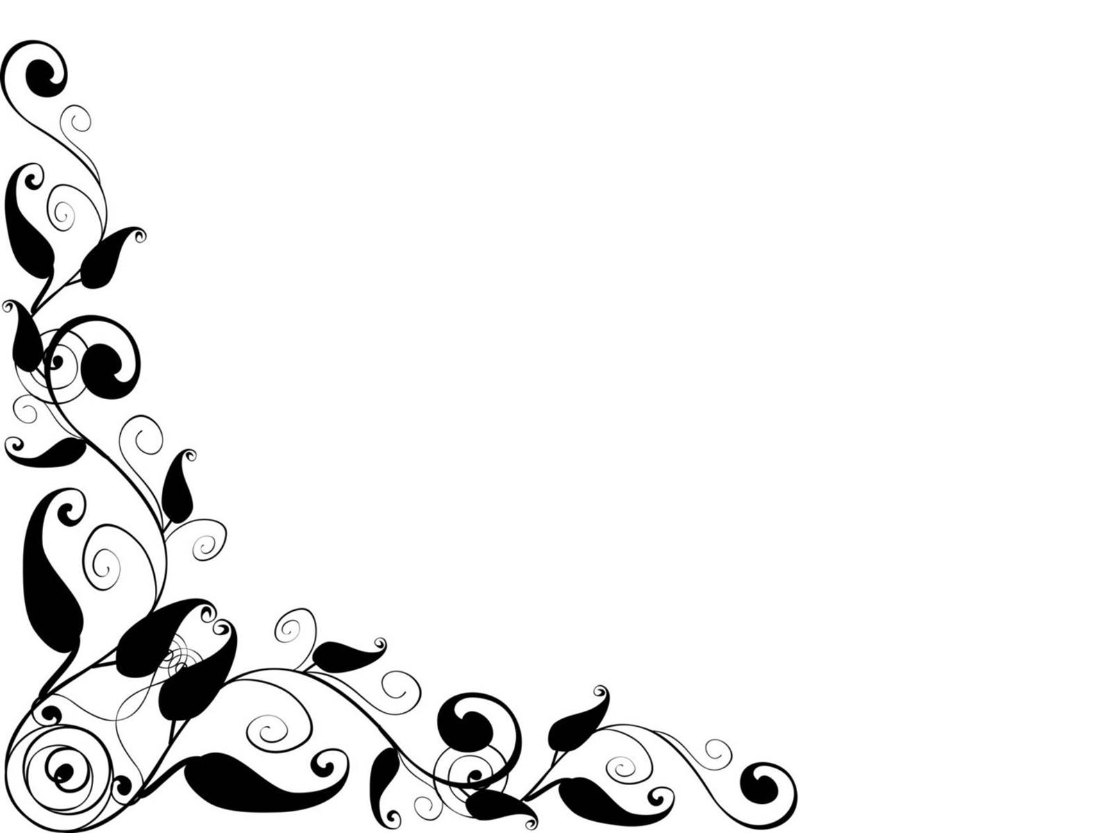 elegant black frame backgrounds border   frames Heart Clip Art Black and White Mind Clip Art Black and White