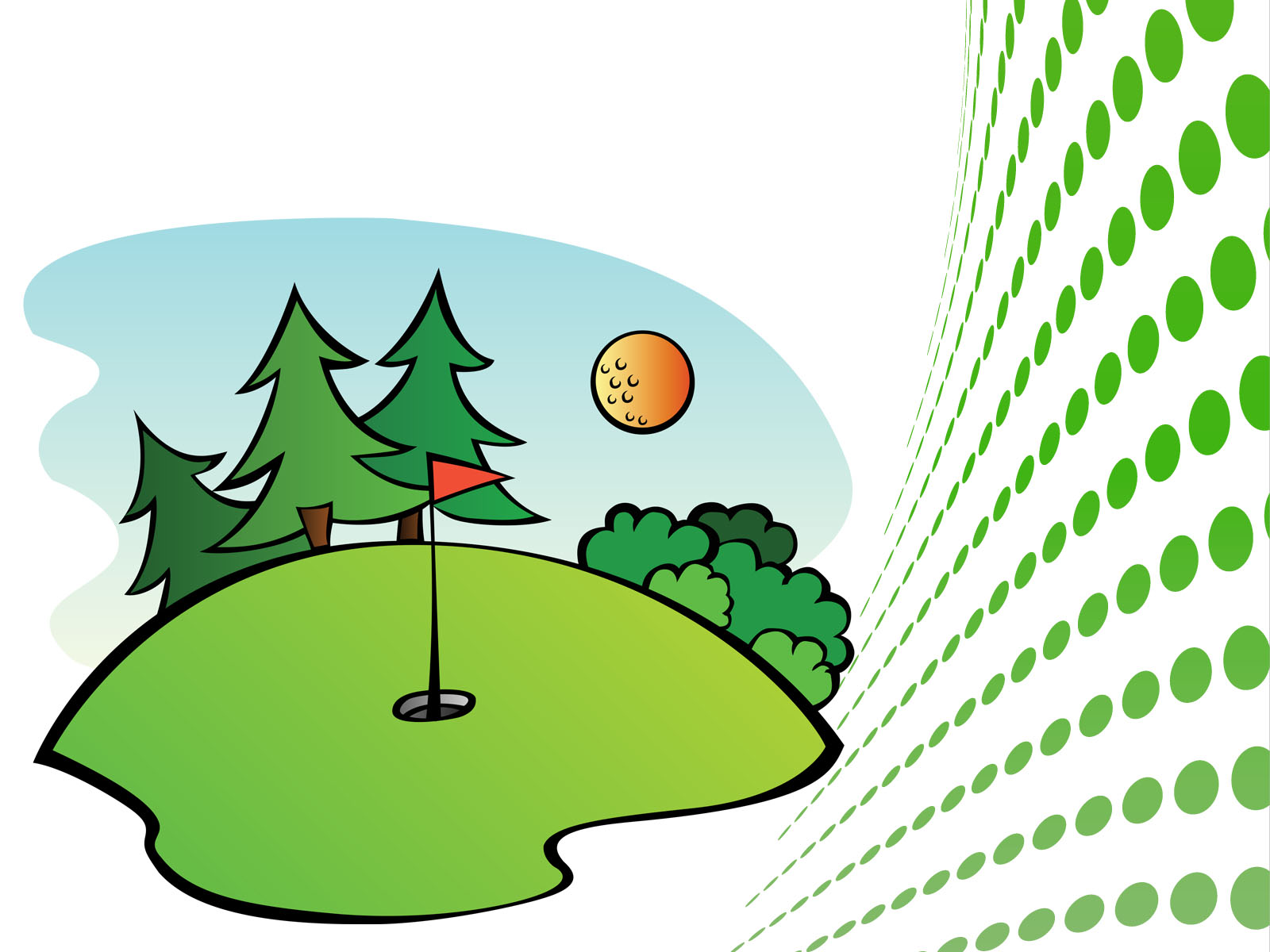 golf course sports ppt backgrounds - sports templates - ppt grounds, Powerpoint templates