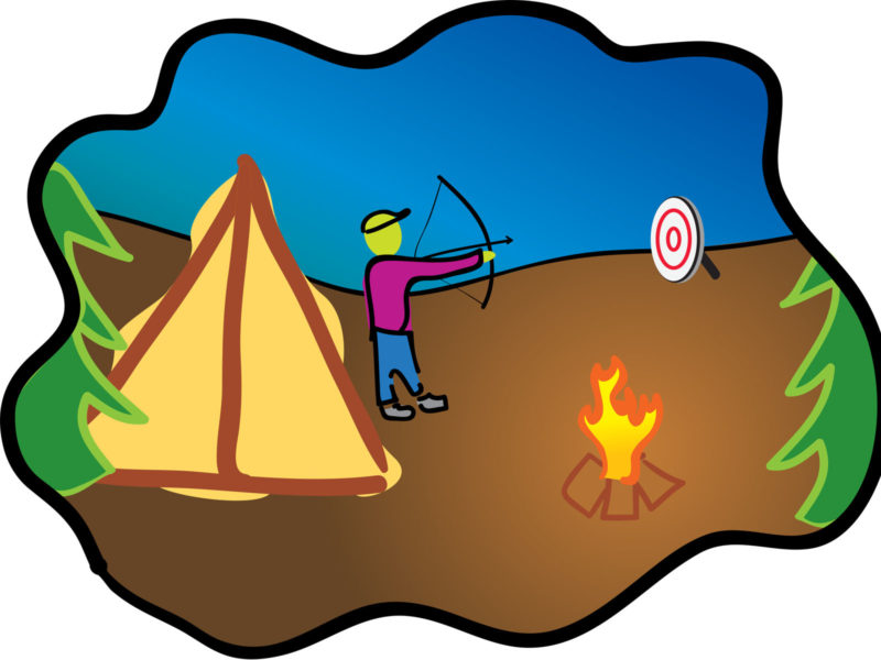 Happy Camping Archery PPT Backgrounds