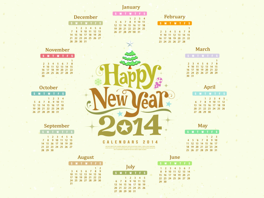 Happy new year 2014 calendar backgrounds christmas design normal resolution toneelgroepblik Gallery