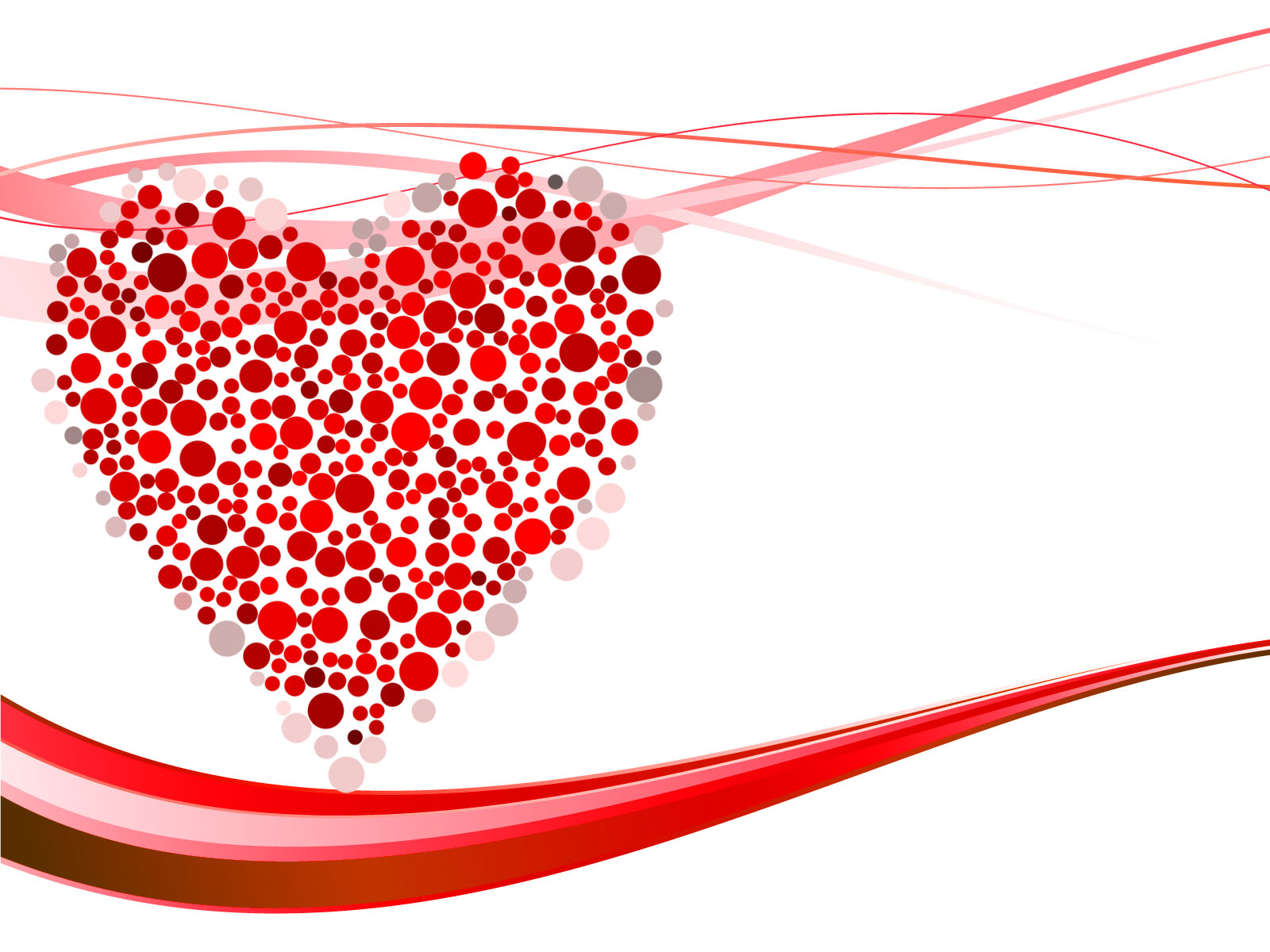 hearts dots backgrounds love red templates free ppt