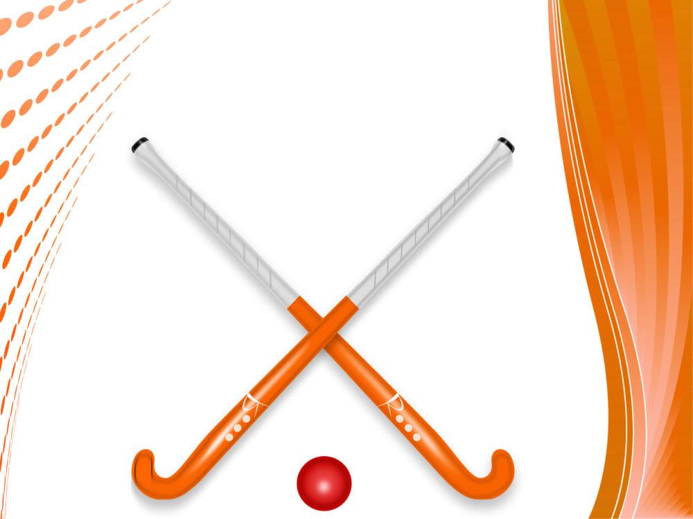 Hockey stick and ball backgrounds games orange sports templates hockey stick and ball ppt backgrounds toneelgroepblik Choice Image
