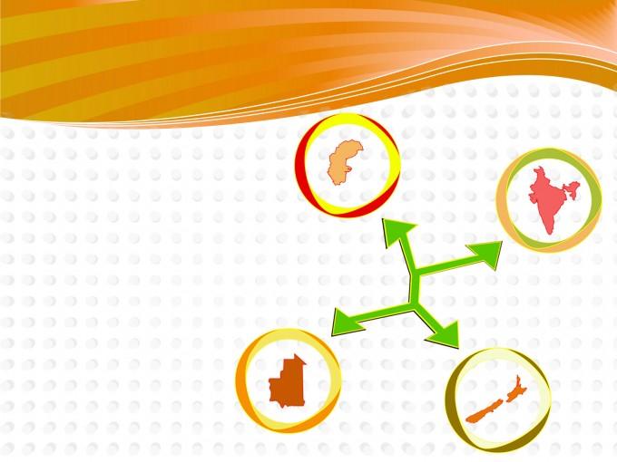 International Network Template PPT Backgrounds