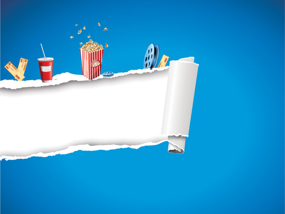 Label with Movie & Film Backgrounds - Movie & TV - PPT Backgrounds