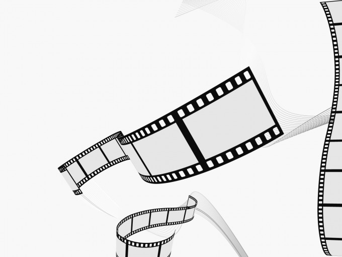 Movie Film Strips PPT Backgrounds