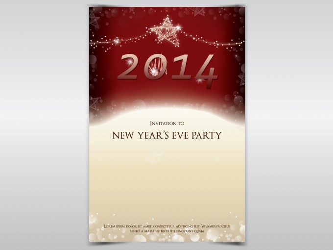 New Year Party Invitation PPT Backgrounds