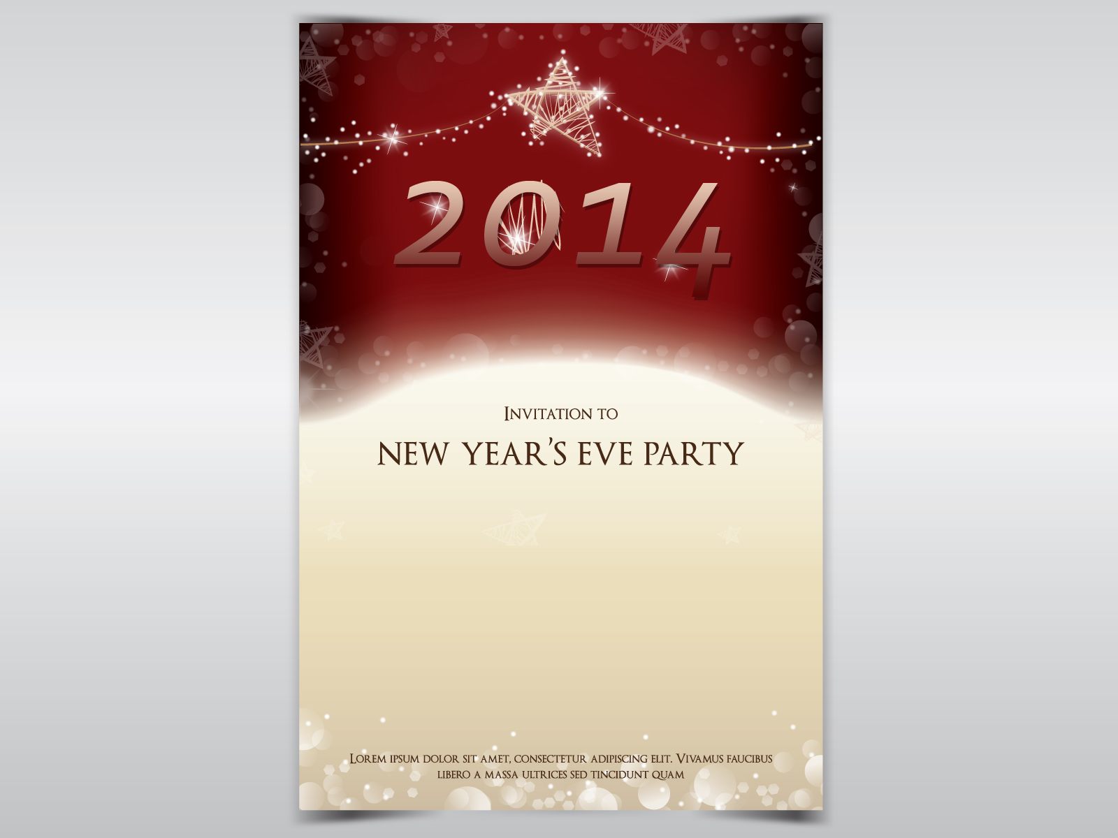 New Year Party Invitation Backgrounds - Christmas, Holiday Templates ...