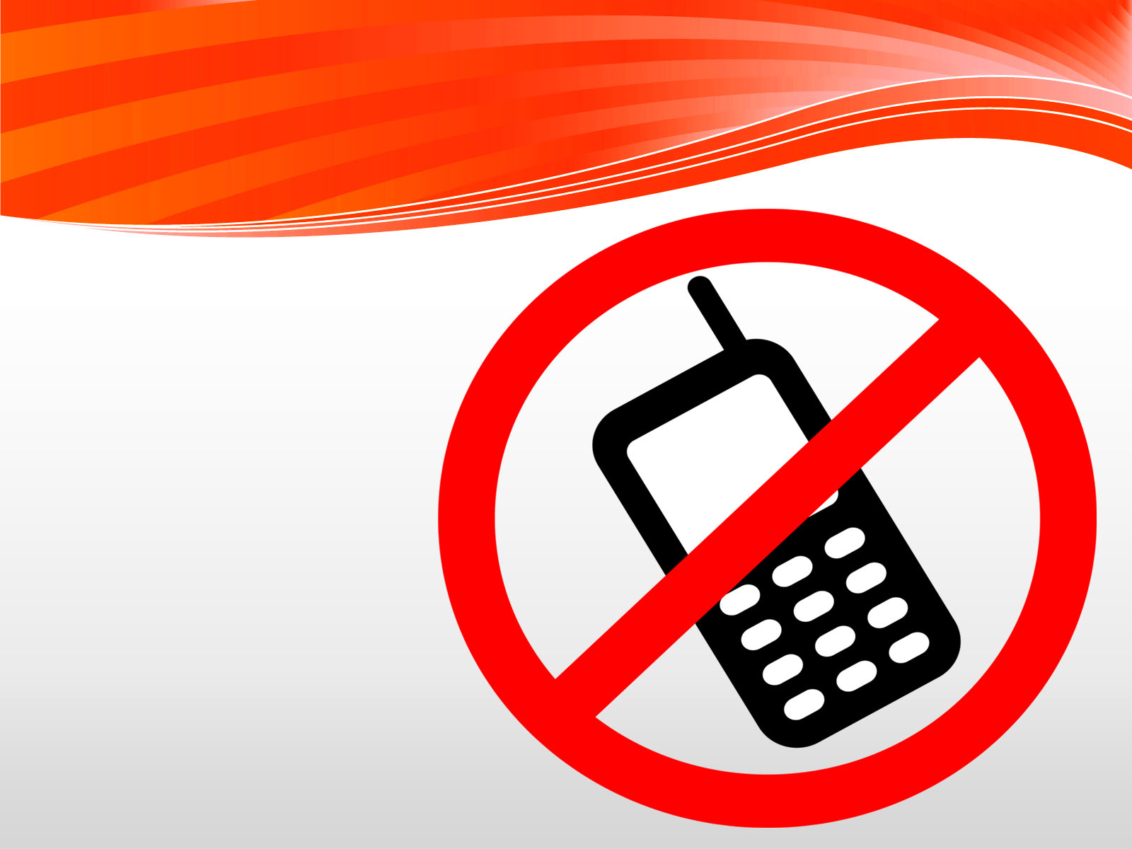 No Cell Phones Allowed PPT Backgrounds