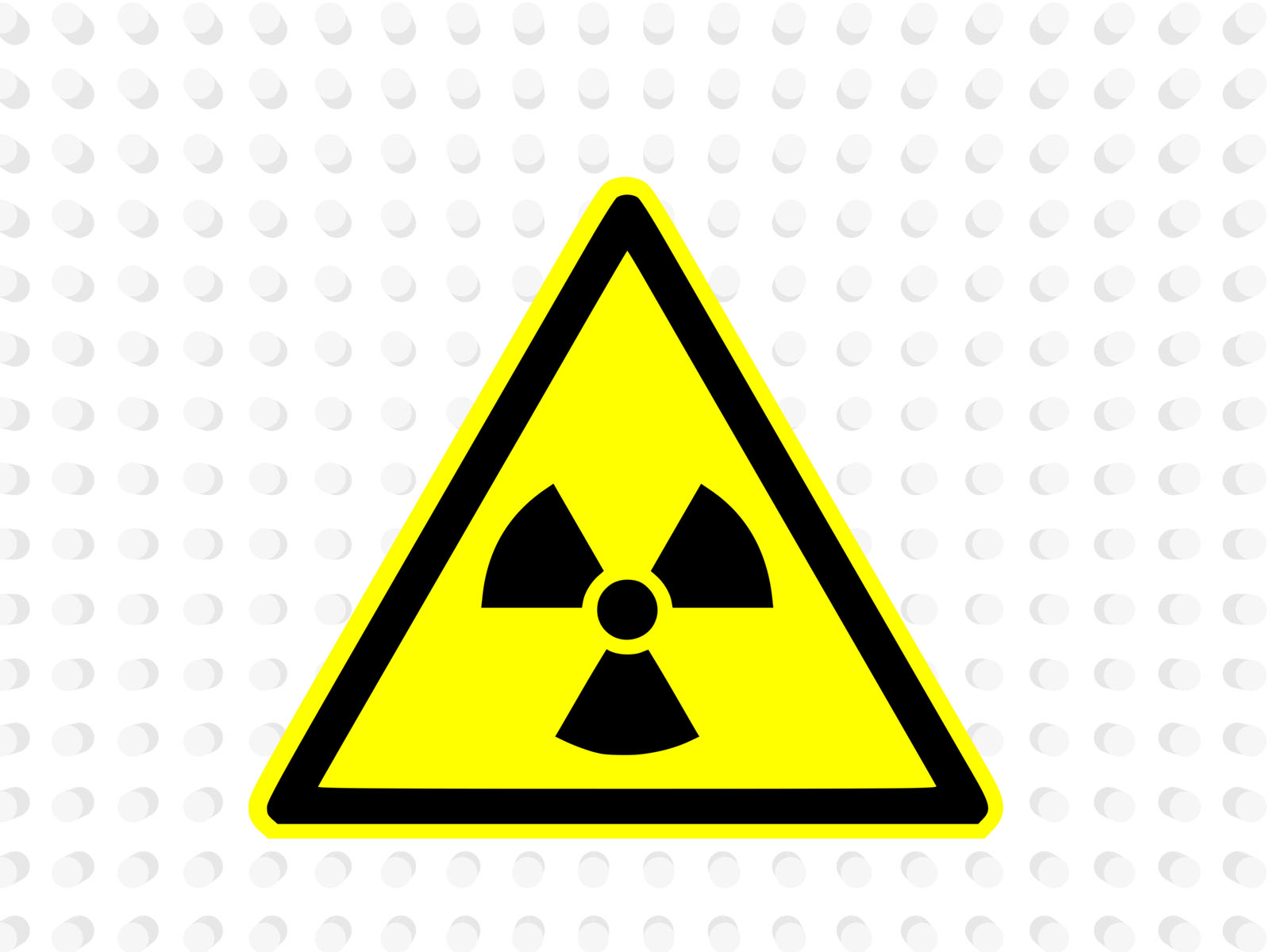 nuclear warning powerpoint template ppt backgrounds - black, Powerpoint templates