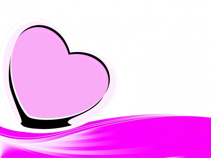 Pink Heart PPT Backgrounds