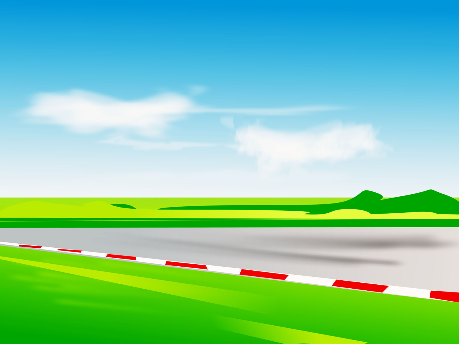 Race Track Ppt Backgrounds Games Transportation
