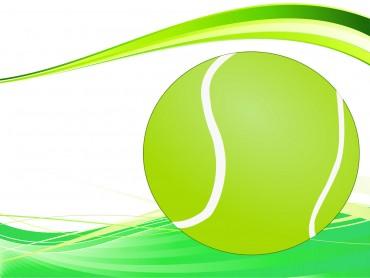 Tennis Ball Powerpoint Slide