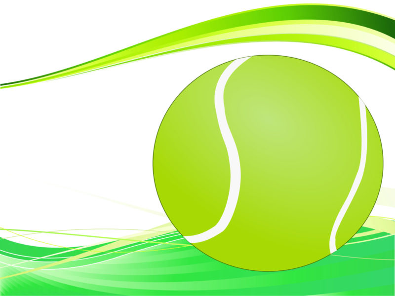 Tennis Ball Powerpoint Slide
