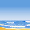 The sandy beach ppt backgrounds