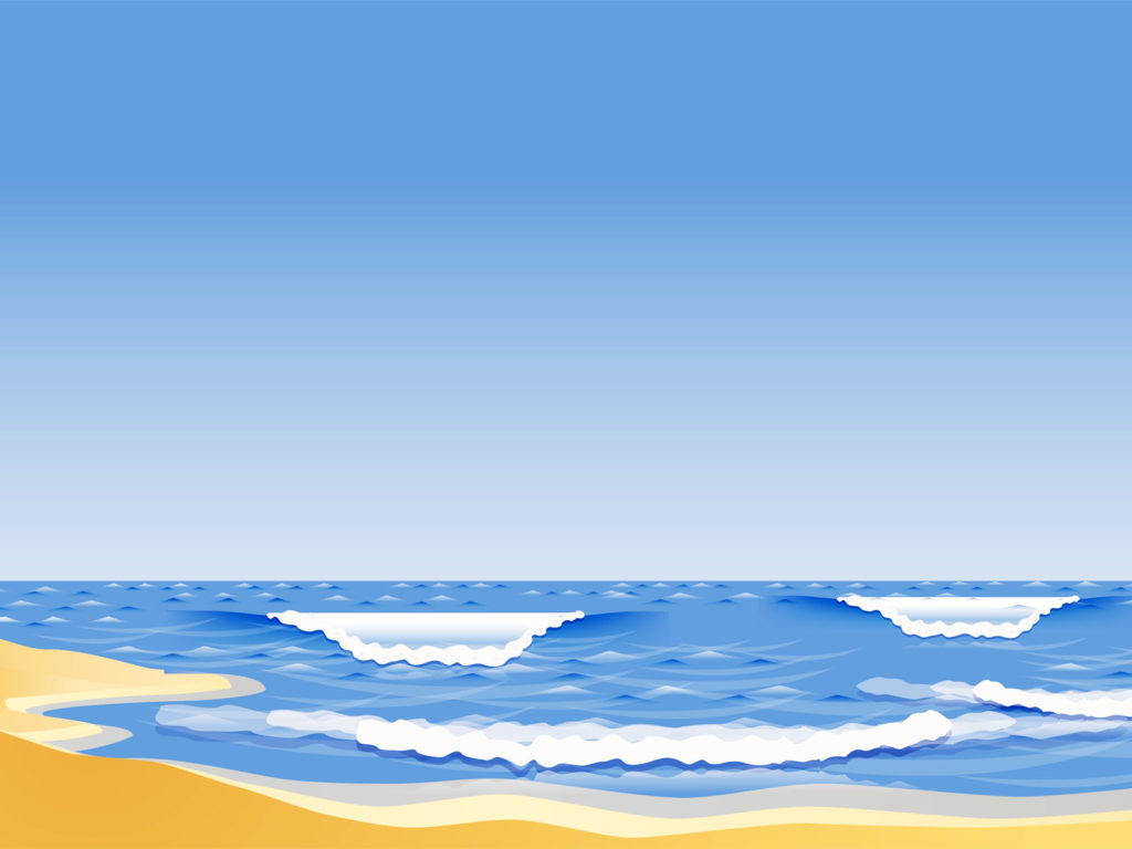 the sandy beach ppt backgrounds - blue, nature templates - ppt grounds, Modern powerpoint