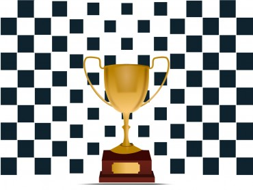 Trophy Chequered Flag