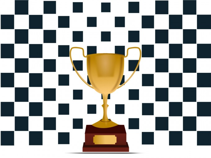 Trophy Chequered Flag PPT Backgrounds