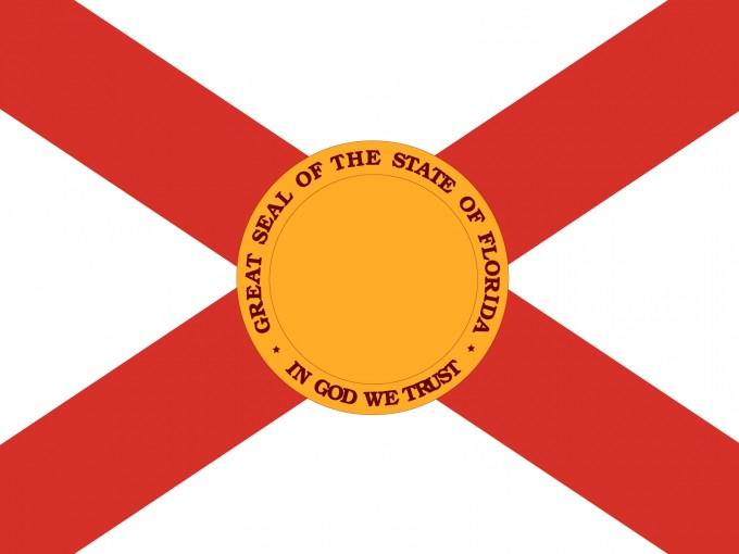 USA Florida Flag PPT Backgrounds