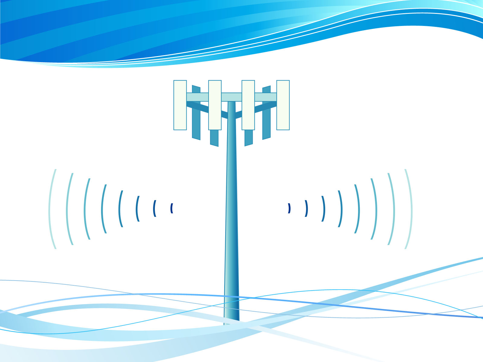 Wireless CellTower PPT Design PPT Backgrounds - Business, Technology ...