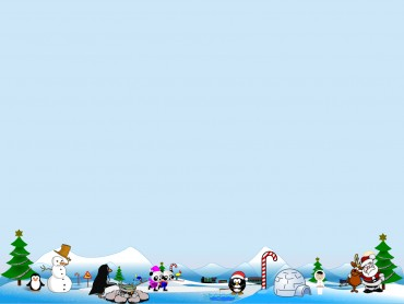 Artic North Pole Scene for Holidays