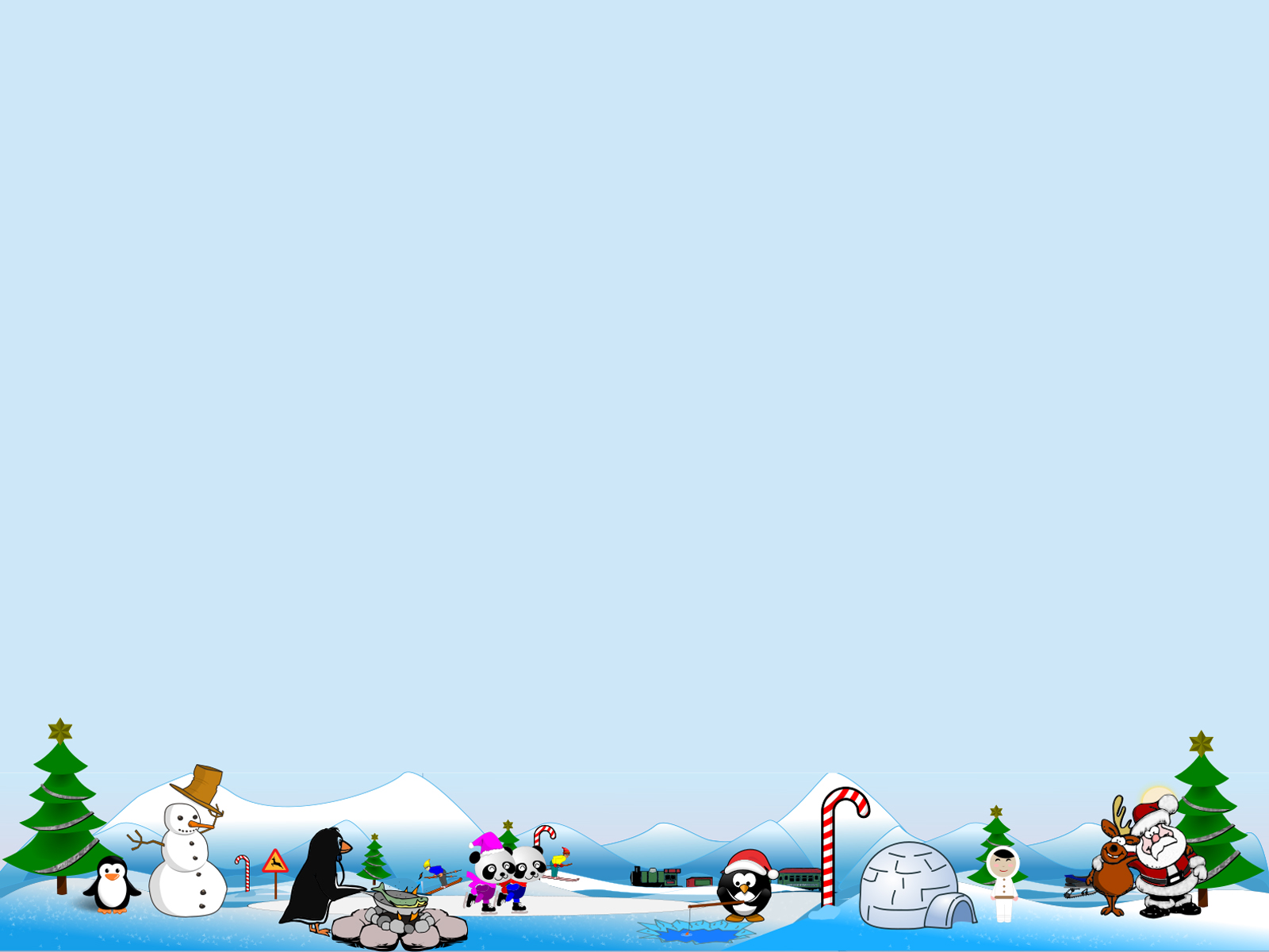 Artic north pole scene for holidays backgrounds for Free christmas powerpoint templates