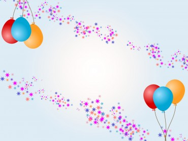 Balloons with Stars for Birthday