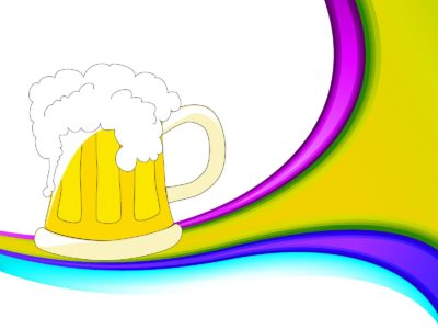Beer Mug Drinks PPT Backgrounds