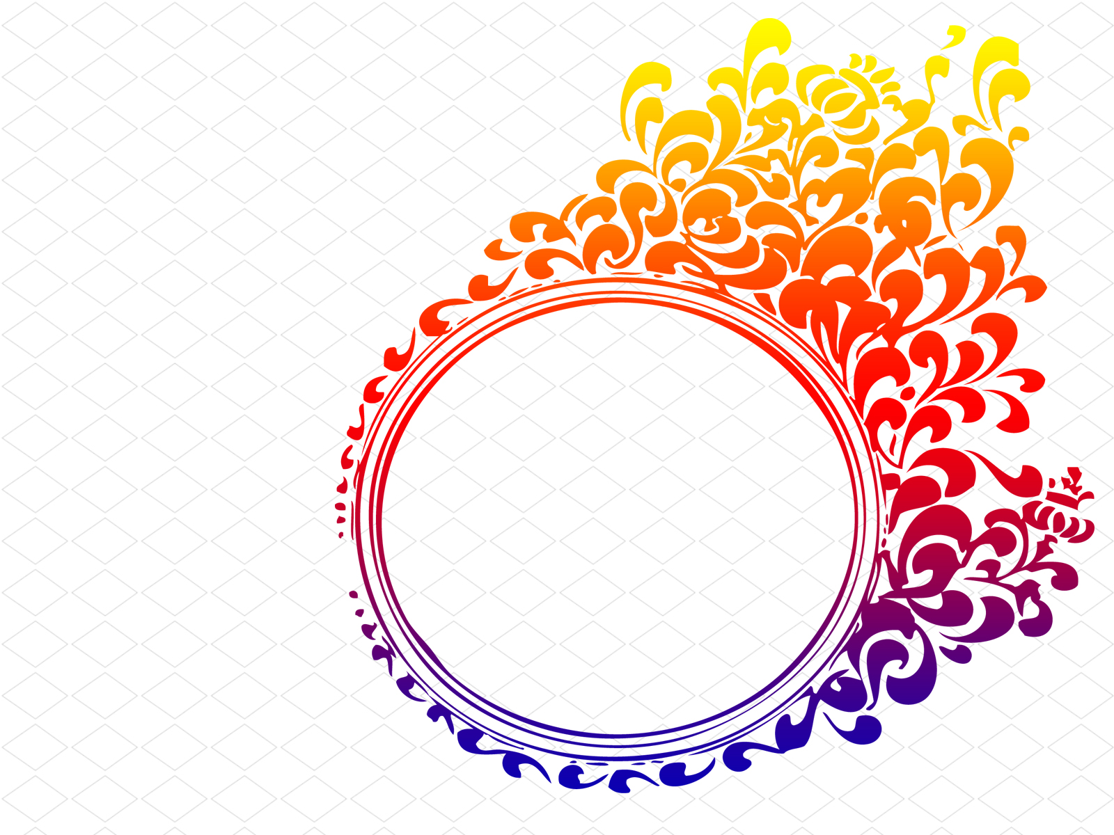 Blue Circle Flame Border Backgrounds