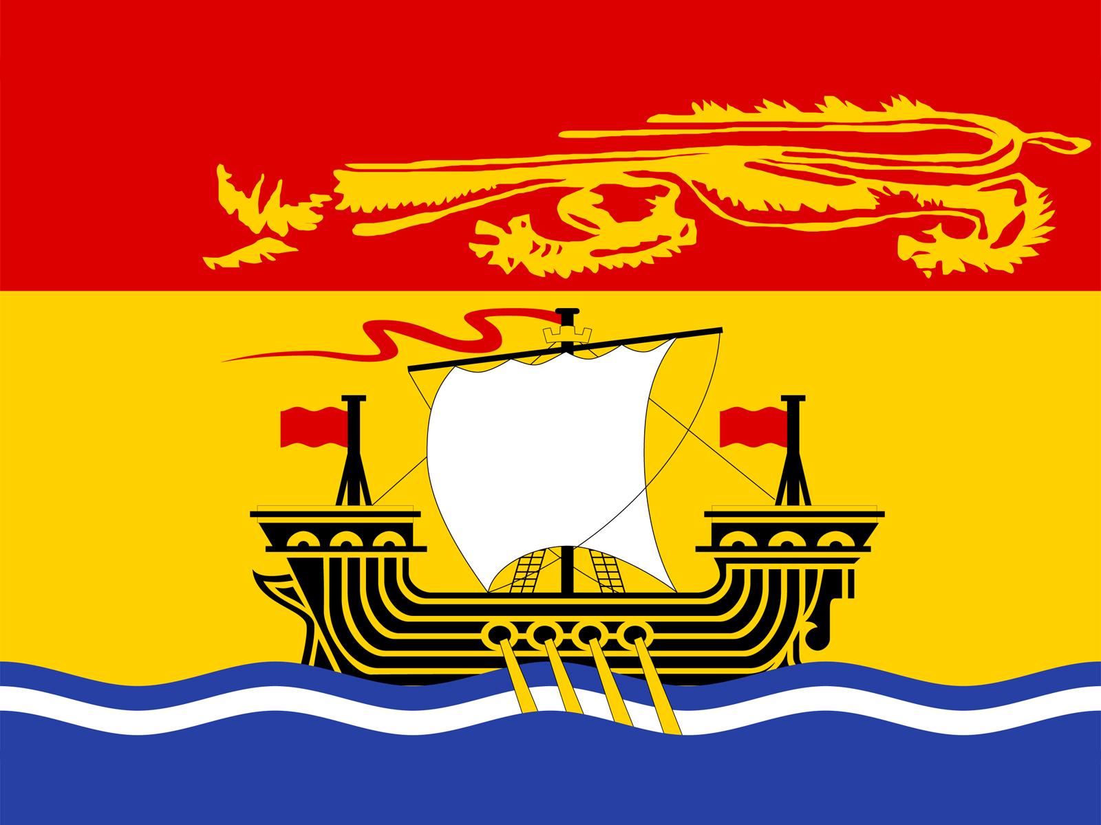 Canada - New Brunswick Flag Backgrounds