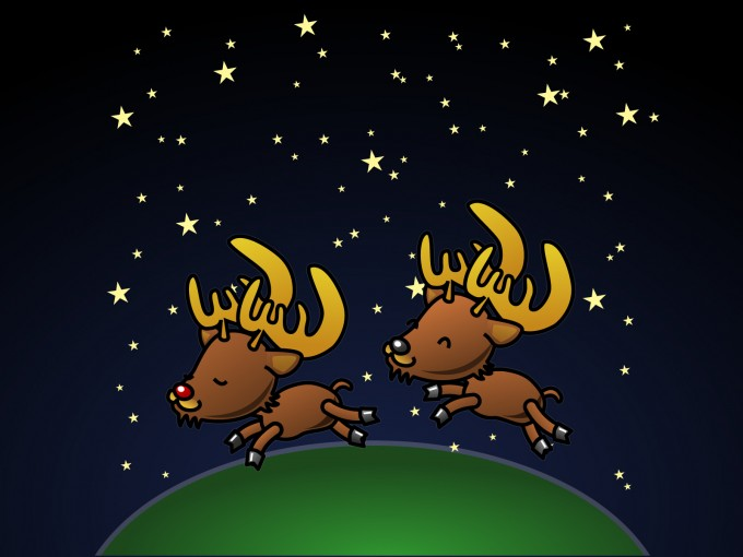 Caribou for Christmas PPT Backgrounds
