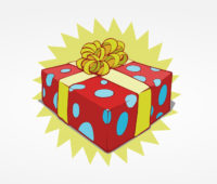 Christmas Sweet Present Box PPT Backgrounds