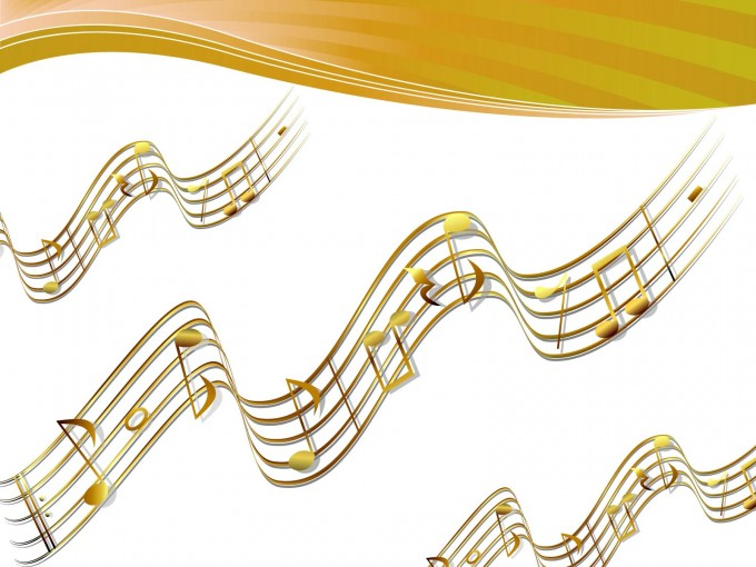 Flying Score Remix for Music PPT Backgrounds