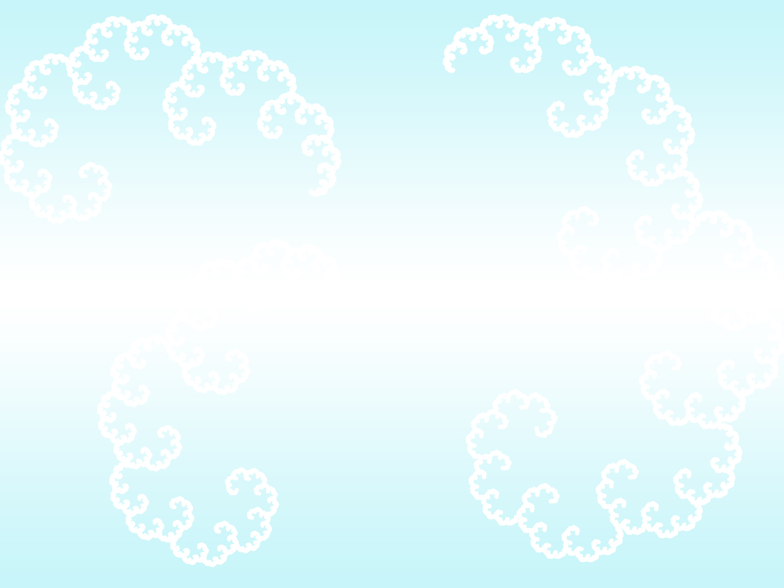Fractal Clouds PPT Backgrounds