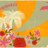 Hawaiian Retro Holiday Backgrounds