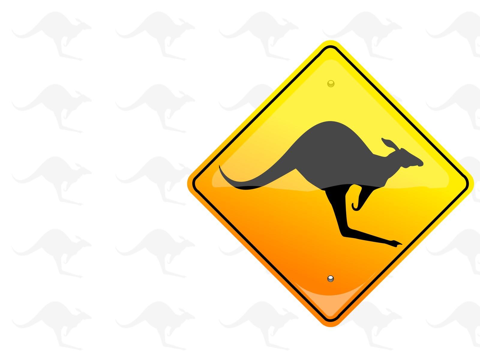 Kangaroo Sign PPT Backgrounds