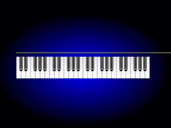Music Piano Bar PPT Backgrounds