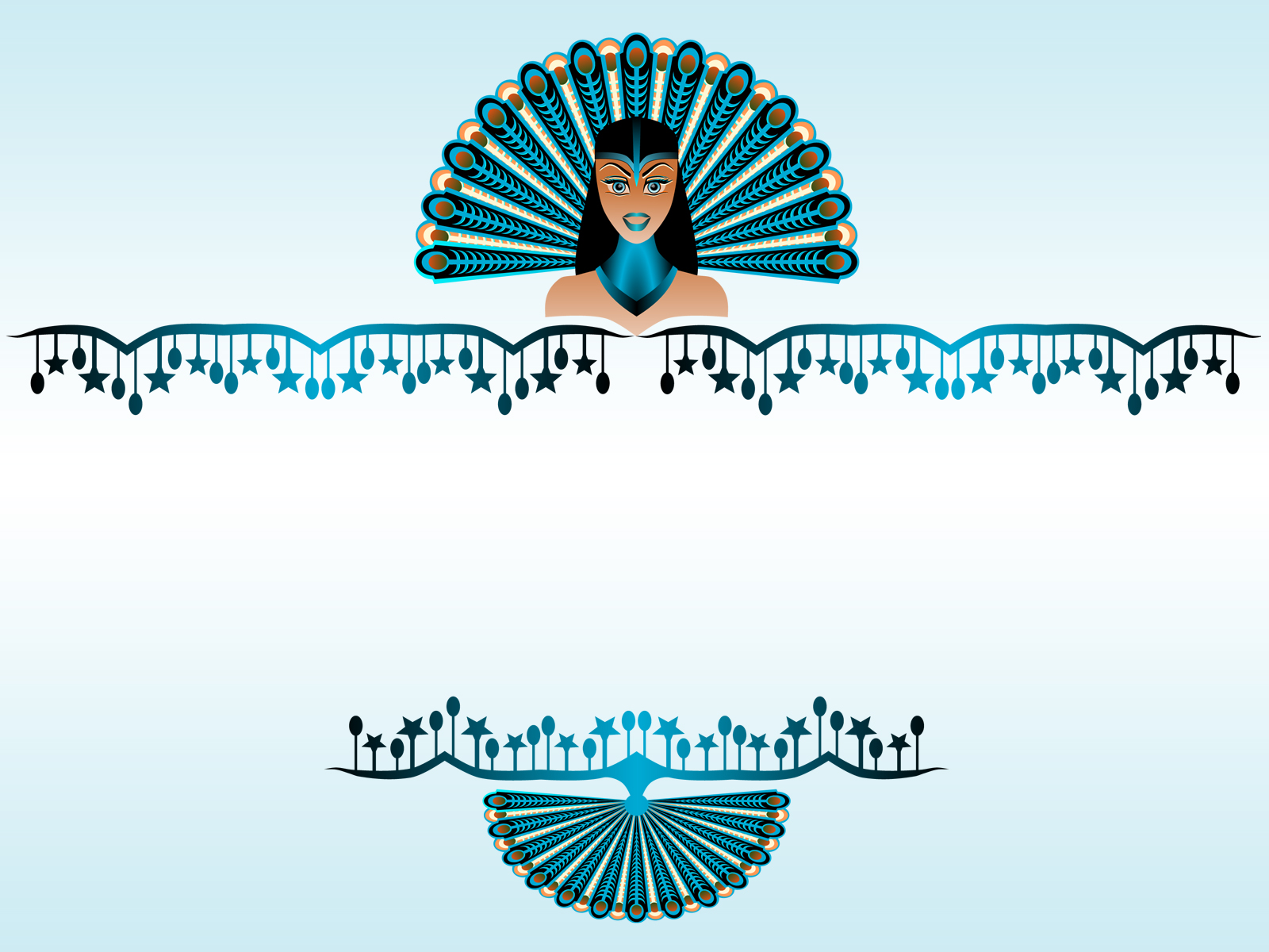 Peacock Girl Border PPT Backgrounds
