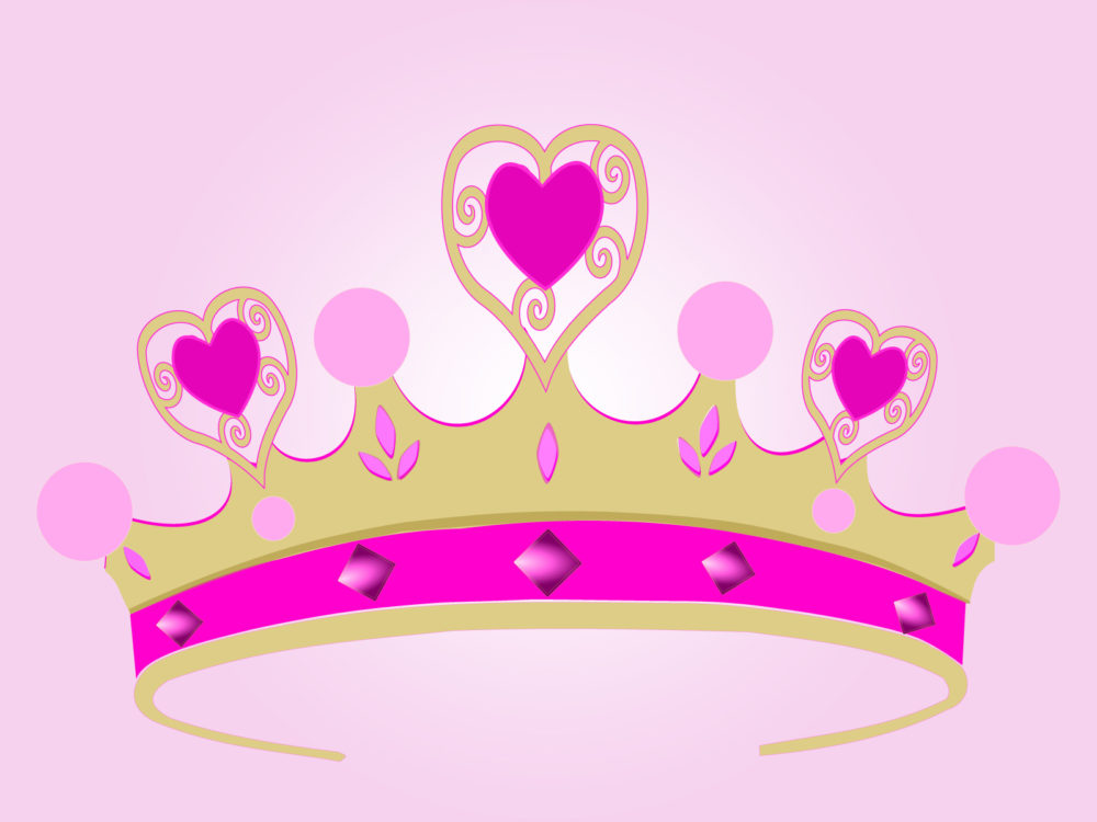 Princess Crown For Powerpoint Ppt Backgrounds 3d Pink